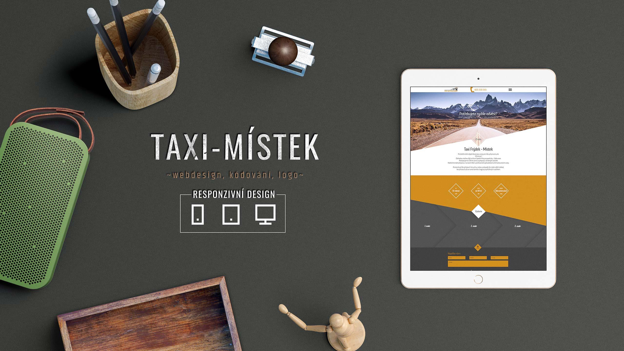 Tvorba www stránek, tiskovin, vizitek pro firmu Taxi-mistek.cz