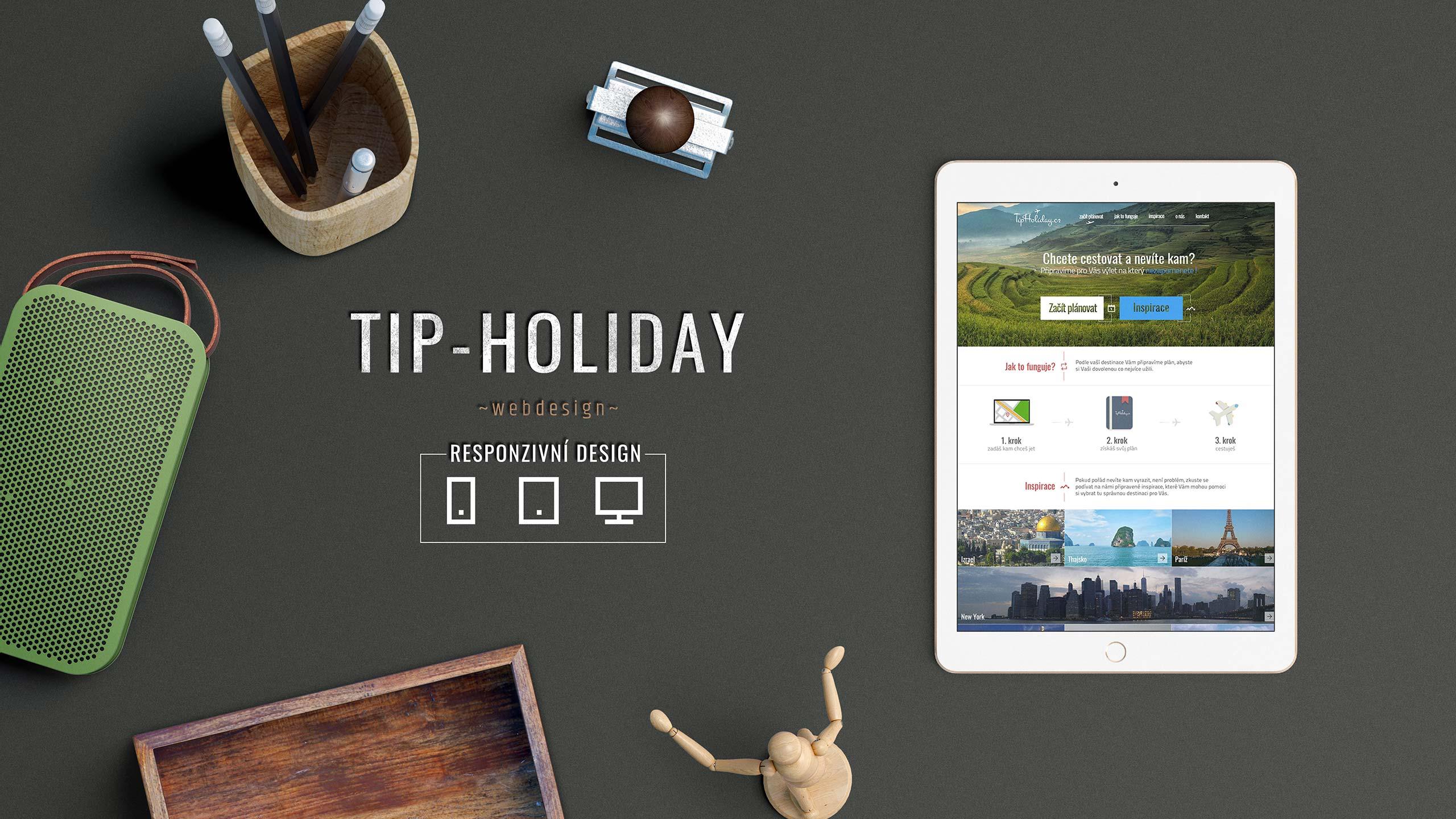 Tvorba grafické šablony pro společnost Tip-Holiday