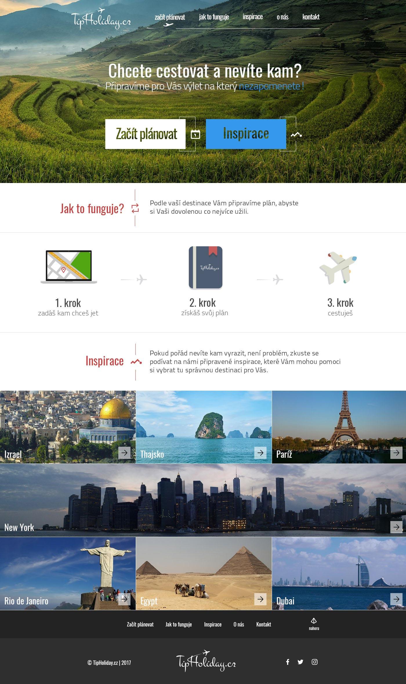 Návrh internetových stránek pro firmu - Tip-holiday